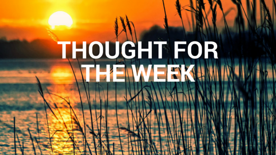 Thought for the Week 10/03/19